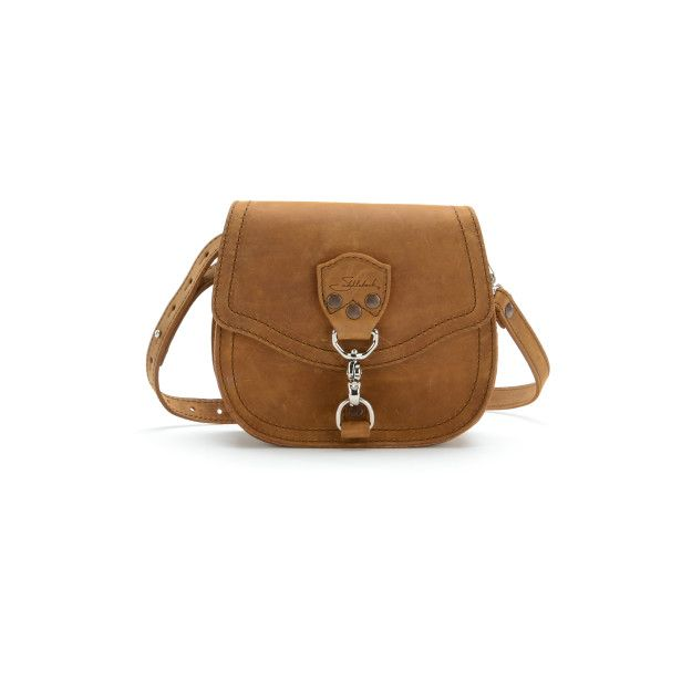 Hobo Mini Leather Crossbody Purse - Tobacco (25% Discount)