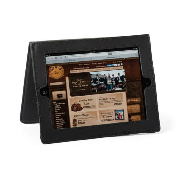 Leather iPad Case - Carbon Black (Retired Color) (25% Discount)