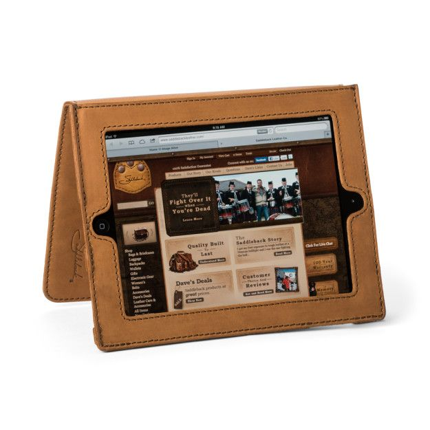 Leather iPad Case - Tobacco Brown (Retired color) (25% Discount)