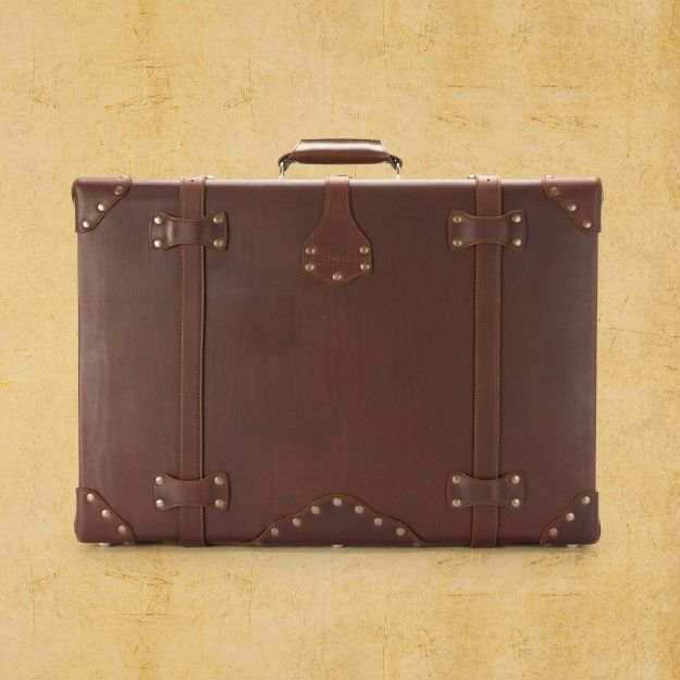 Leather Suitcase - Large, Chestnut (10% Discount)