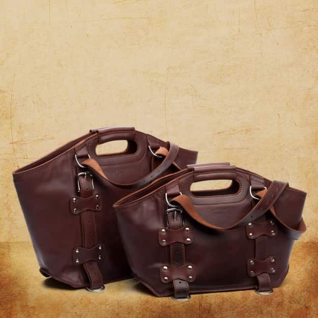 Leather Tote Bag - Large, Chestnut (25% Discount)