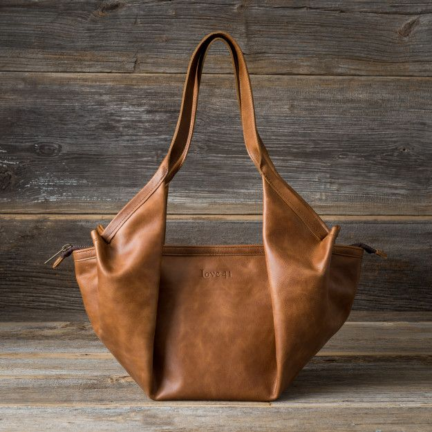 Kivu Bag in caramel brown