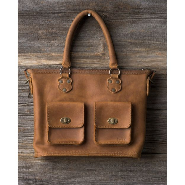 Classic Crossbody Tote in tobacco