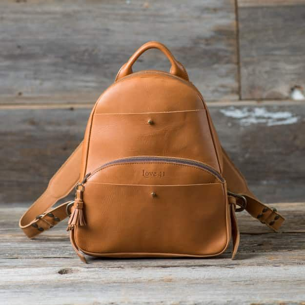 City Backpack in western cedar