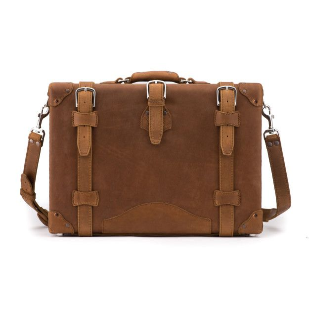 Hardside Leather Briefcase - Tobacco (10% Discount)
