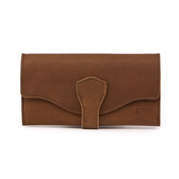 Long Trifold Leather Wallet - Tobacco (25% Discount)