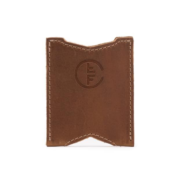 leather license wallet medium in tobacco leather
