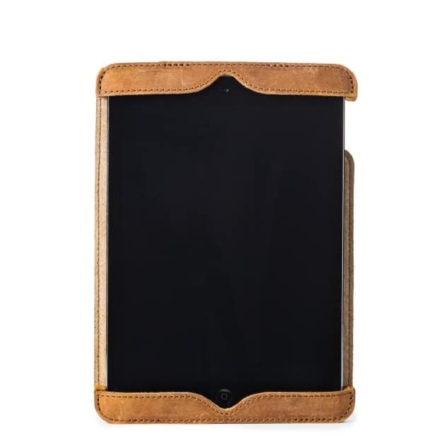 Simple iPad Case in color Tobacco front with an iPad