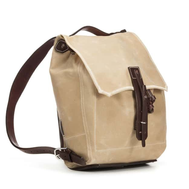 Simple Backpack in Color Sand Front Angle
