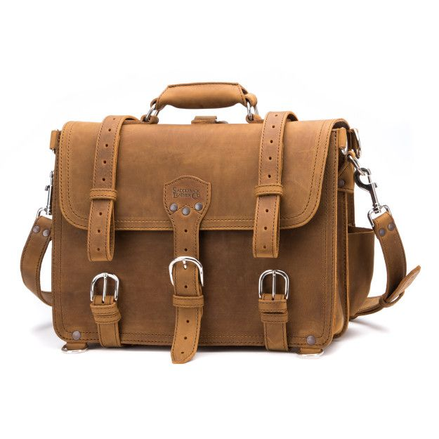 Classic Leather Briefcase - Large, Tobacco (10% Discount)