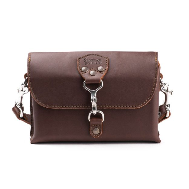 Leather Clutch Purse - Medium, Chestnut (25% Discount)