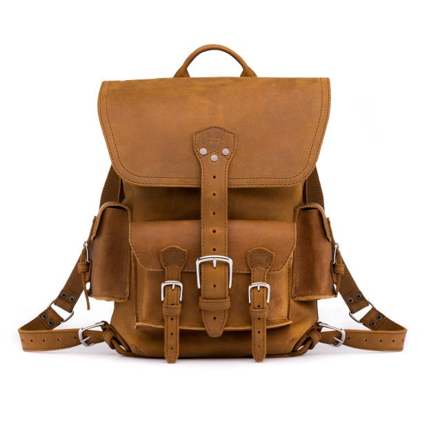 Thin Front Pocket Backpack - Tobacco (10% Discount)