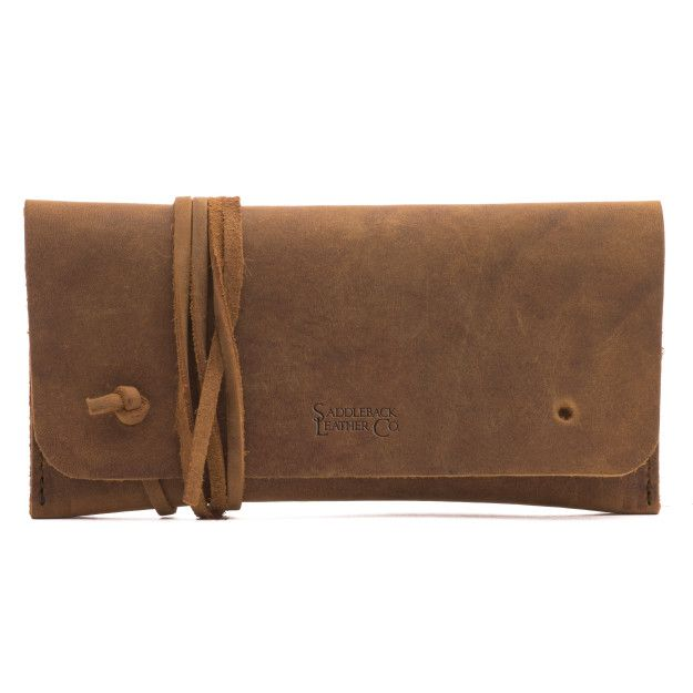 leather sunglass case in tobacco leather