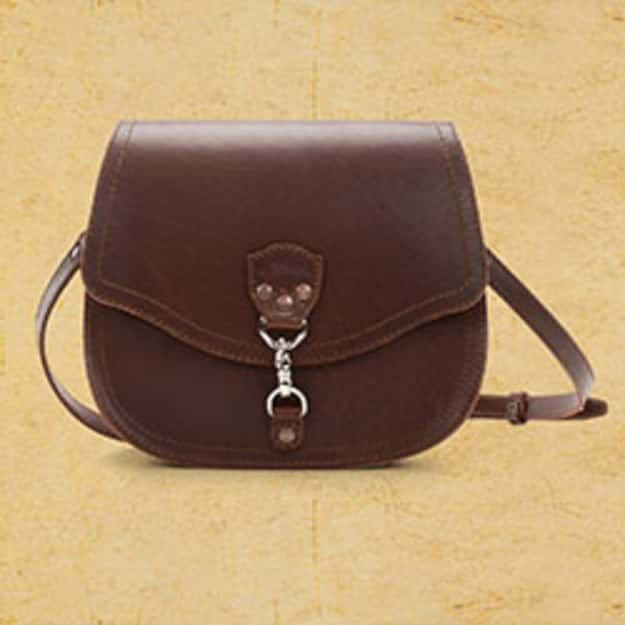 Hobo Leather Crossbody Purse - Chestnut (25% Discount)
