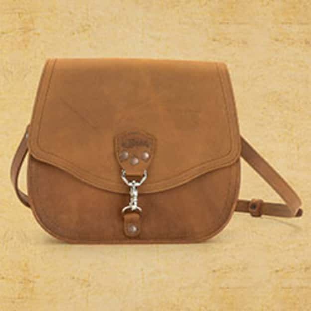 Hobo Leather Crossbody Purse - Tobacco (25% Discount)