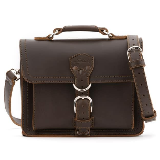 Leather Tablet Bag - Dark Coffee Brown (15% Discount)