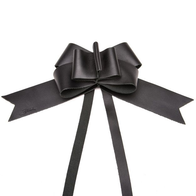 Leather Bow - Black (25% Discount)