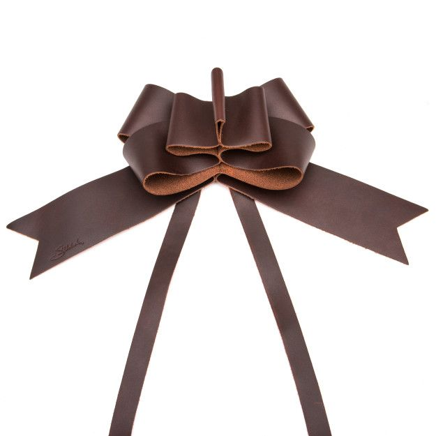 Leather Bow - Chestnut (25% Discount)