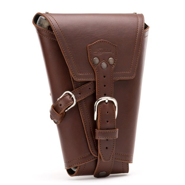 leather pistol wrap medium in chestnut leather