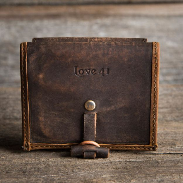 Bi-fold Wallet in tobacco