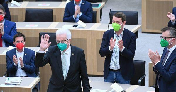 Entscheidung in Baden-Württemberg: Winfried Kretschmann startet in dritte Amtszeit als Ministerpräsident