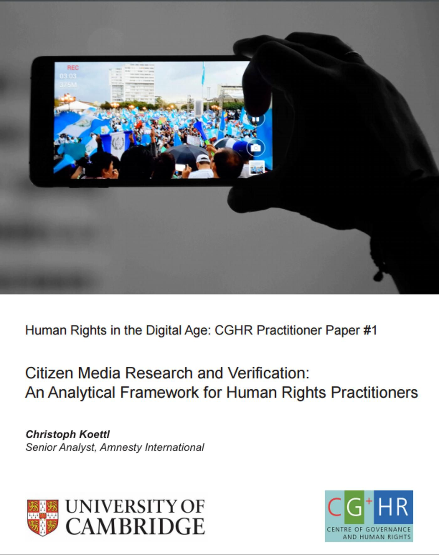 Citizen Media Research and Verification: An Analytical Framework for Human Rights