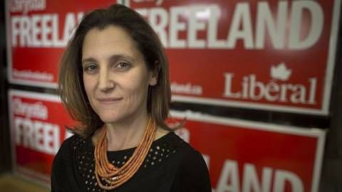 Canadian Newspaper Shields Russia-Hating Foreign Minister From Her Nazi Past