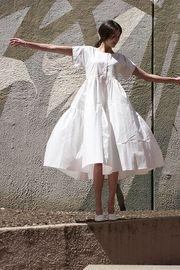 延續白色情人節的浪漫,氣質女神必有白色恤衫裙