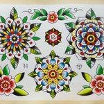 Neo Traditional Flower Tattoo Flash Novocom Top