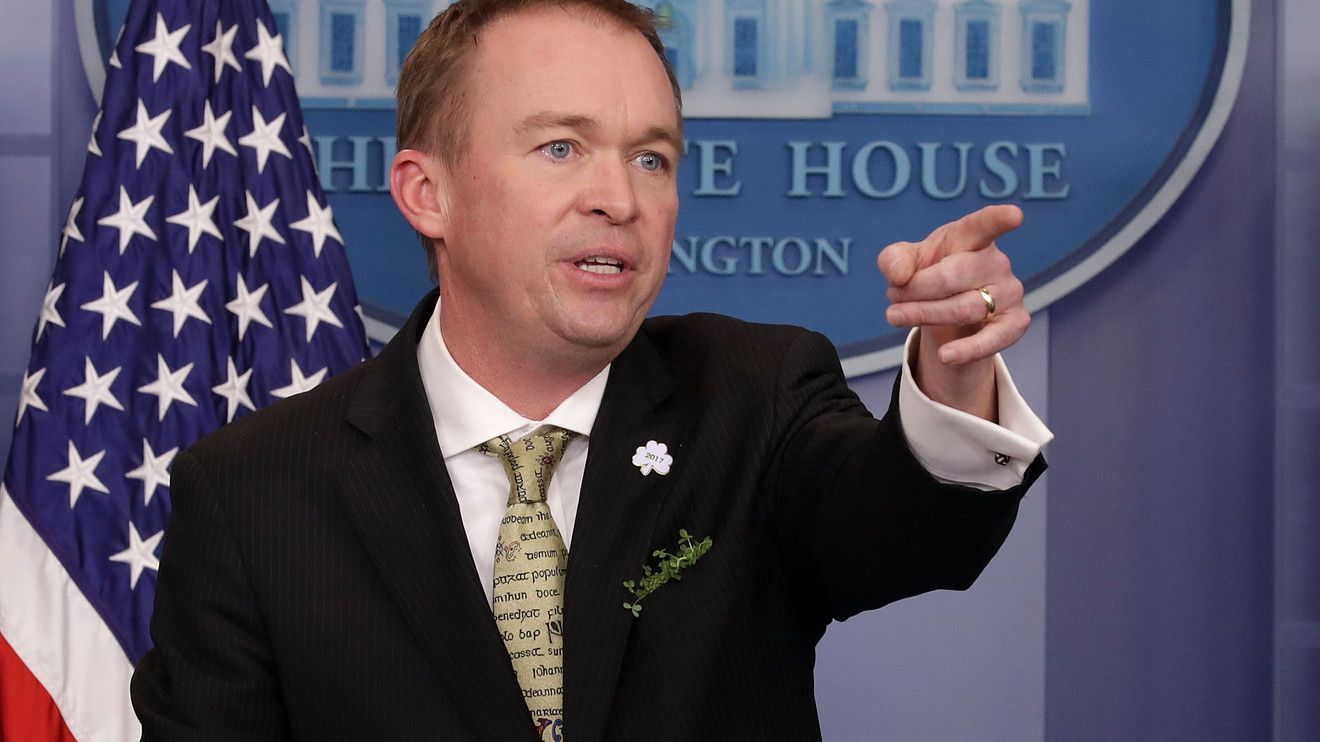 Trump's budget chief says climate-change spending 'a waste of your money'