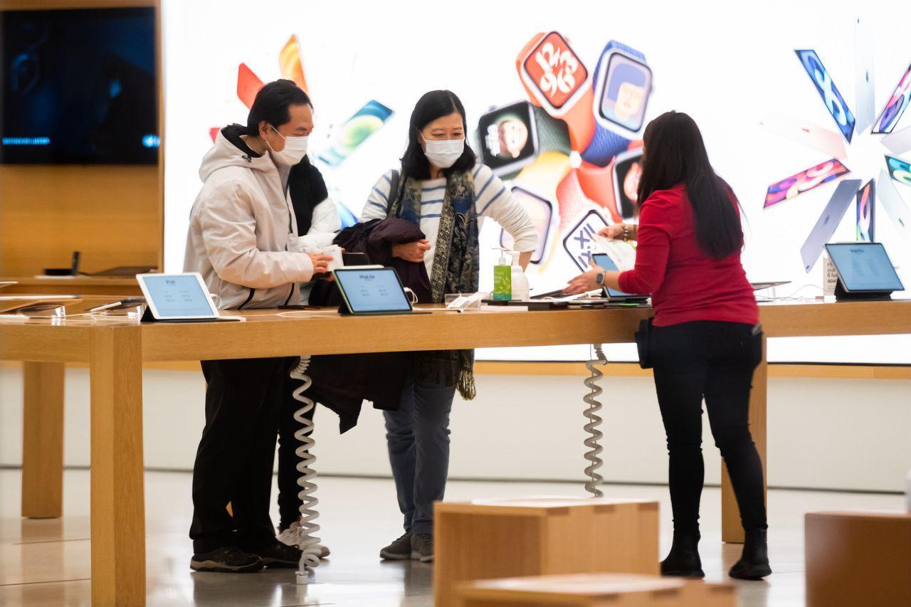 苹果公司等受益于居家避疫趋势的公司在2020年以惊人的市值收官。