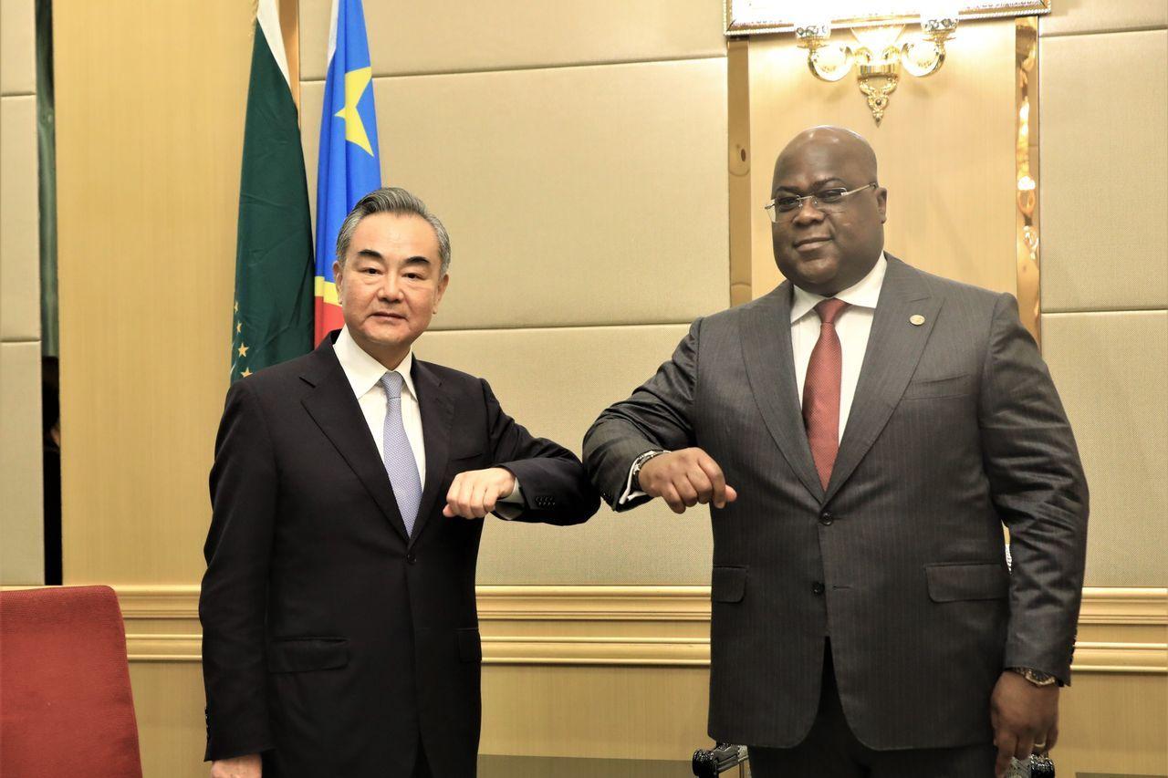 1月初,刚果(金)总统齐塞克迪在该国首都金夏沙会见中国外交部长王毅。