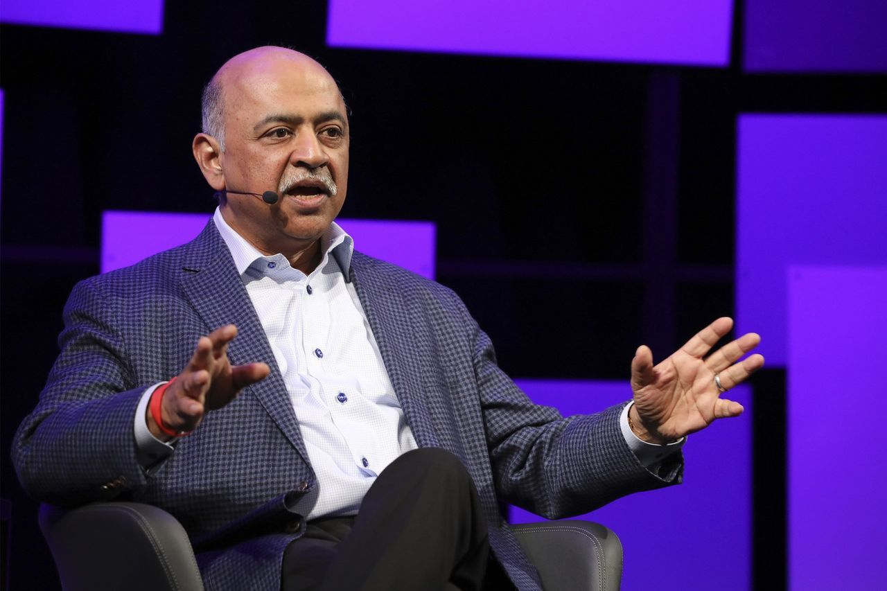去年4月成为IBM首席执行官的Arvind Krishna。图为他在2019年的《华尔街日报》主办的The Future Of Everything Festival上。