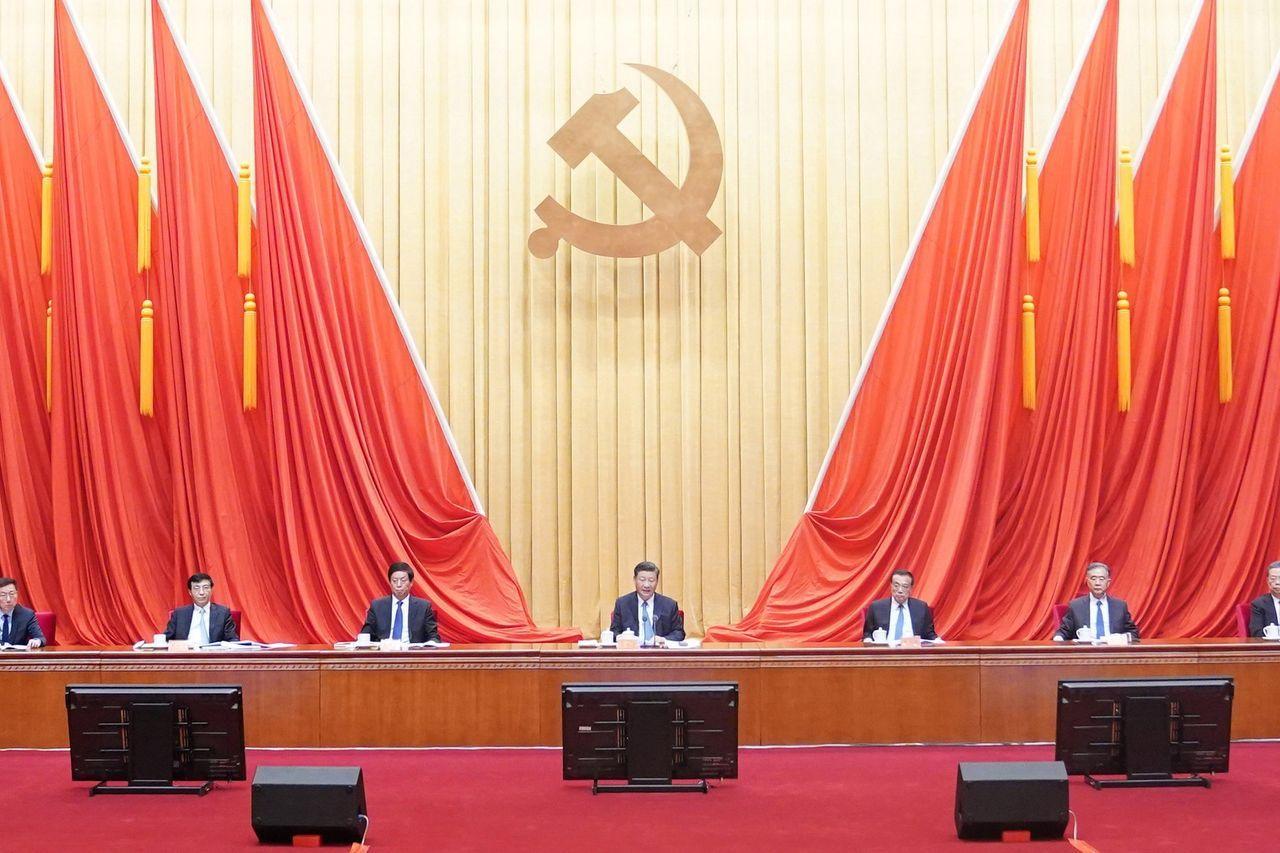 中国国家主席习近平在今年1月的一次党内会议上。