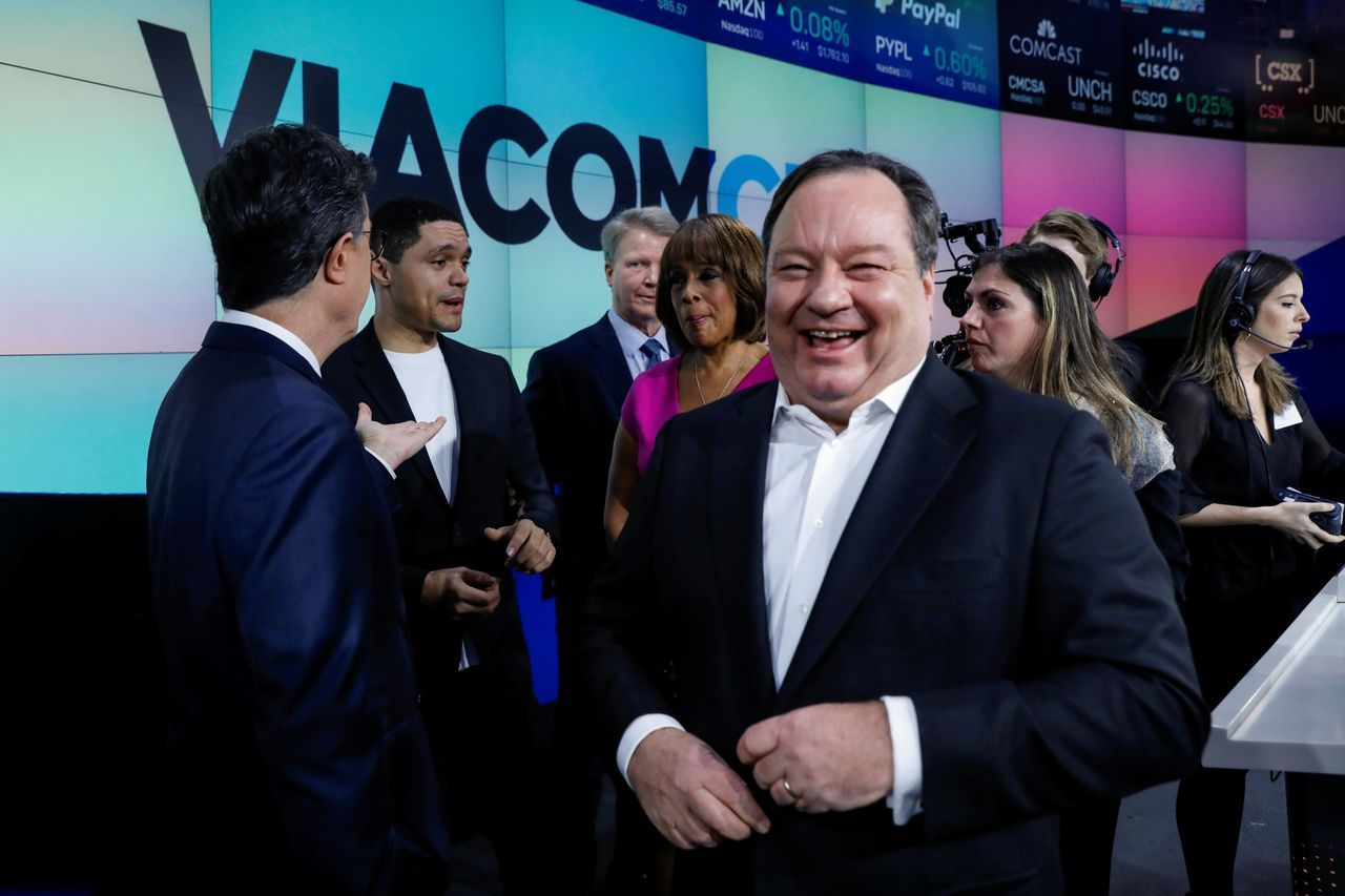 ViacomCBS首席执行官鲍勃·巴基什(Bob Bakish)被拍摄于2019年12月合并完成之日。他已表示会把流媒体作为公司的优先事项。