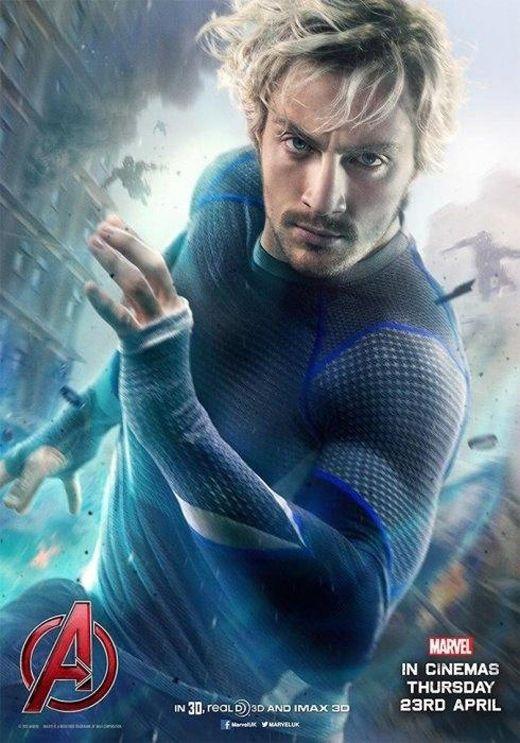 Hình ảnh nhân vật Quicksilver trong Avengers: Age of Ultron do Aaron Taylor-Johnson thủ vai.