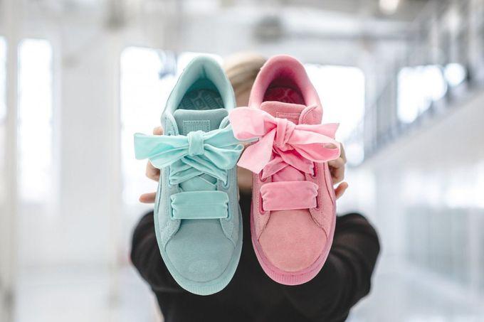 全新絨面Puma粉色柔和鞋款系列