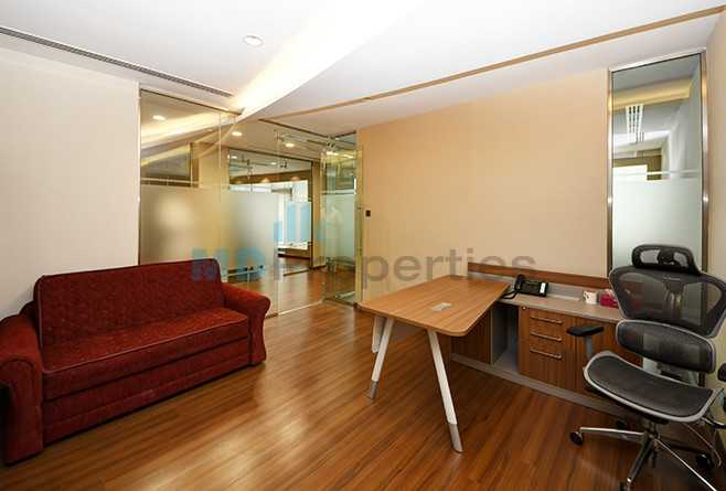 A Spacious Fitted And  Furnished Office With Marble Floor