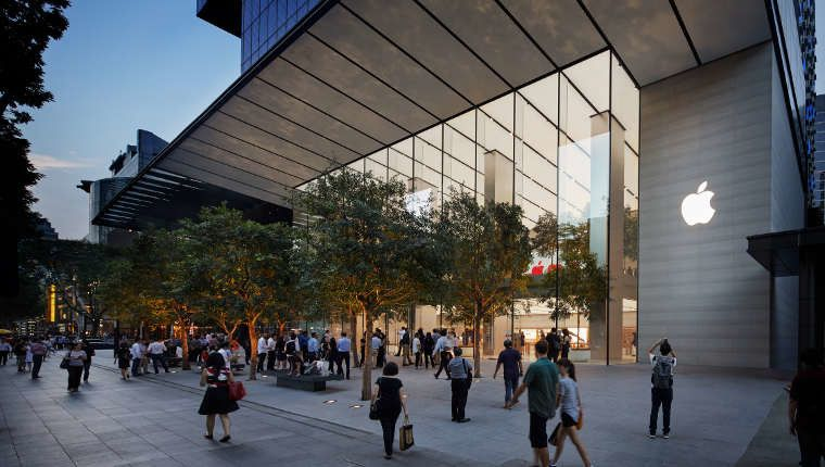 Apple opens new store in Singapore