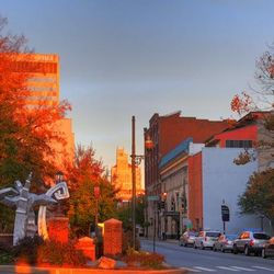 photo of Pritchard Park in downtown Asheville NC