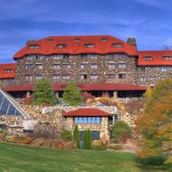 photo of front view of Grove Park Inn in Asheville NC