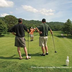 photo of golfers enjoying a course in Asheville NC