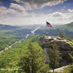 Chimney Rock & Bat Cave Image