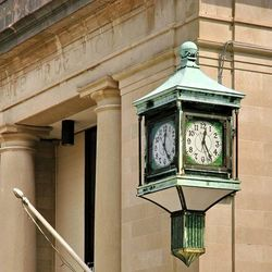 Photo of historic Green clock on the Corner