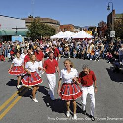Photo of a Day at a Festival Gathering in Down Town Waynesville