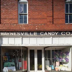 Photo of the Old Waynesville Candy Co Building