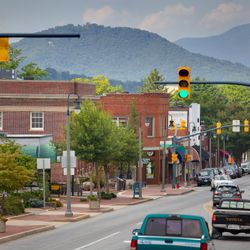 Photo of Downtown Waynesville Street View