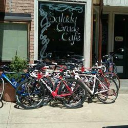 Photo of Bicycles Outside of Saluda Grade Cafe