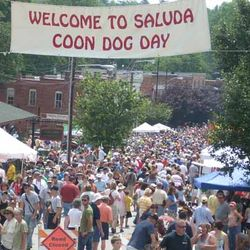 A Photo of the Coon Dog Day Festival in Saluda