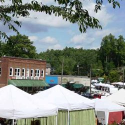 Photo of White Tents Up for the Market